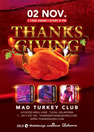 Thanksgiving Turkey Special Flyer Template download