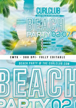 Tropical Beach Party Flyer Template