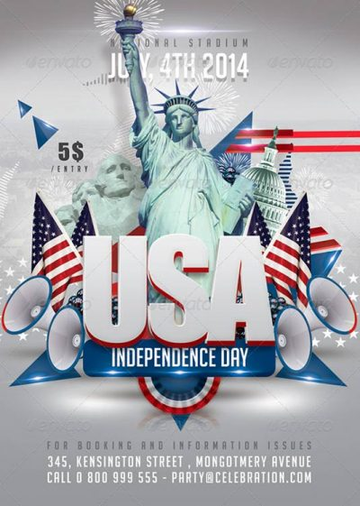 Usa July 4th Independence Day Flyer Template download