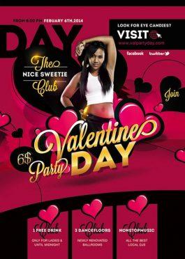 Valentine Day Night Flyer Template