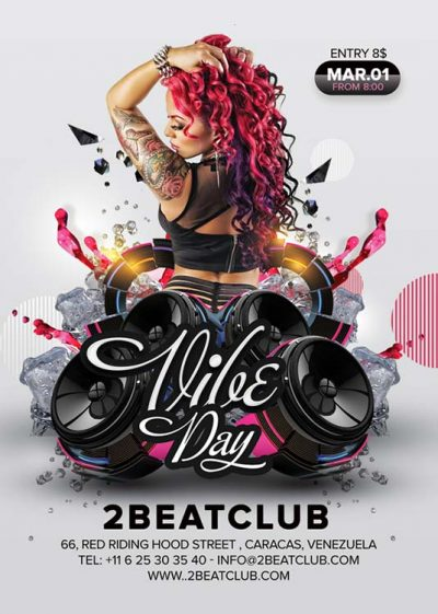 Vibe Day DJ Music Flyer Template download