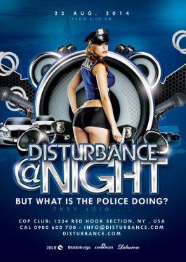 Volume Disturbance Party Flyer Template