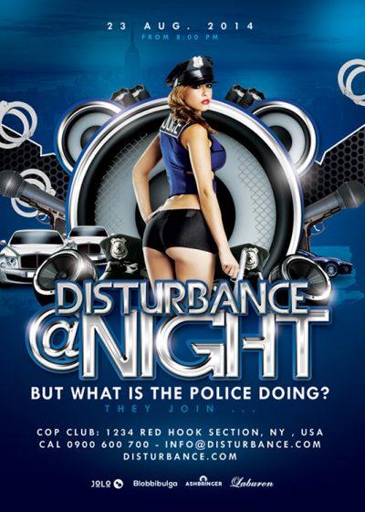 Volume Disturbance Party Flyer Template download