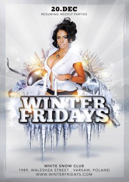 Weekly Fun Friday Winter Flyer Template