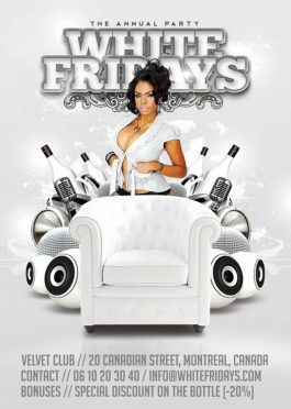 White Fridays Party Club Flyer Template