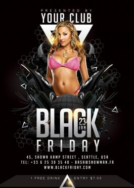 black friday themed party flyer Template