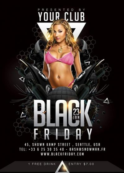 black friday themed party flyer Template download