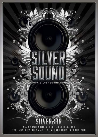 lounge sound night club flyer template download