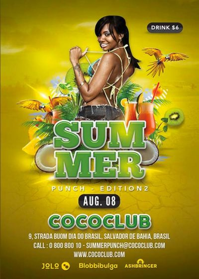 summer tropical exotic flyer template download