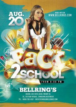 Back 2 school student night flyer template