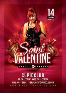 Be My Valentine St Val Day Club Flyer Template