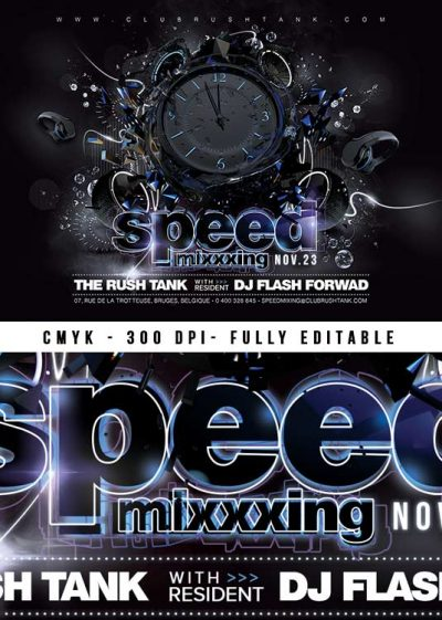 DJ Speed Mixing Club Flyer Template download