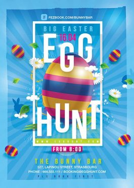 Egg Hunt Easter Flyer Template