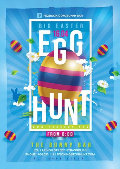 Egg Hunt Easter Flyer Template download