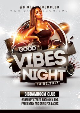 Good Vibes Music Club Flyer Template