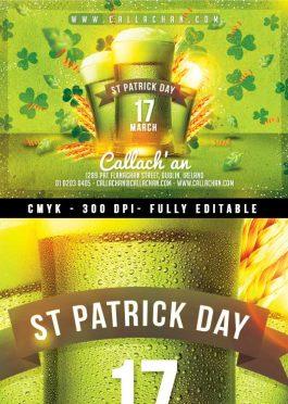 Irish Beer Pub St Patrick Flyer Template