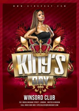 King Royal Night Flyer Template