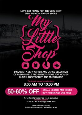 Pop Up Shop Opening Advertising Flyer Template