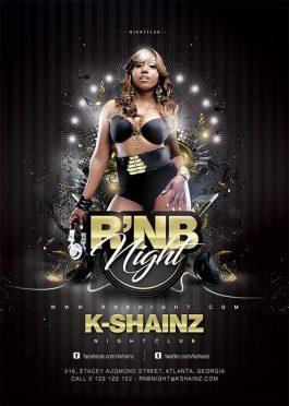 Rnb Music Good Vibe Night Flyer Template