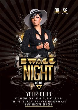 Swagg Night Party Flyer Template