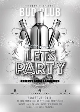 Themed Drink Night Party Flyer Template