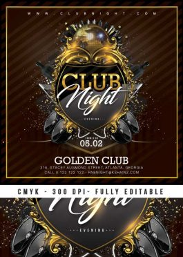 Barocco style club flyer template