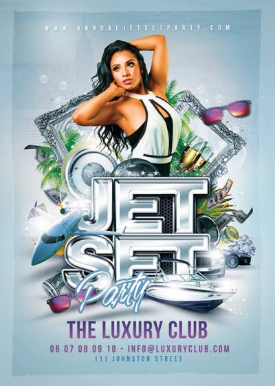 Jet Set Party Club Flyer Template download