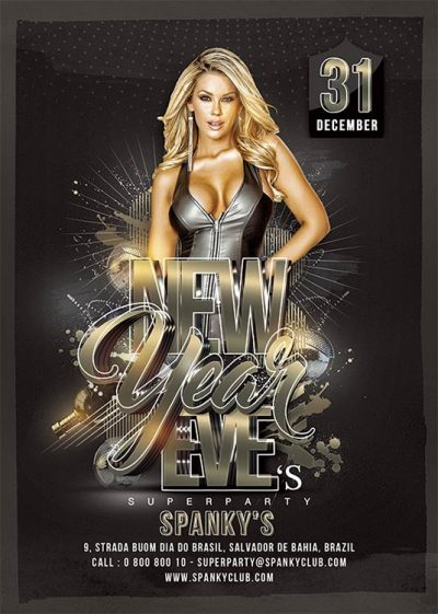 New year eve club bash flyer template download