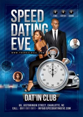 Speed dating night flyer template
