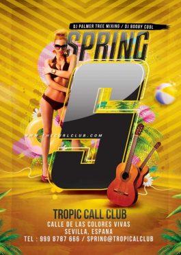Spring Summer Break Flyer Template