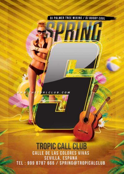 Spring Summer Break Flyer Template download