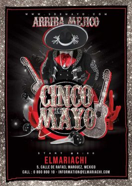 Cinco de mayo mexican flyer template
