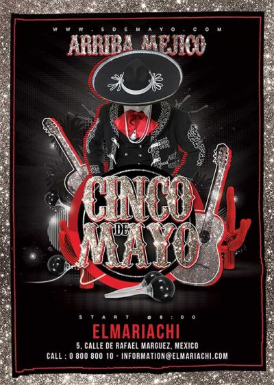 Cinco de mayo mexican flyer template download