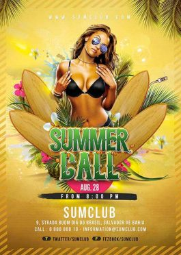 Exotic Summer Party Flyer Template