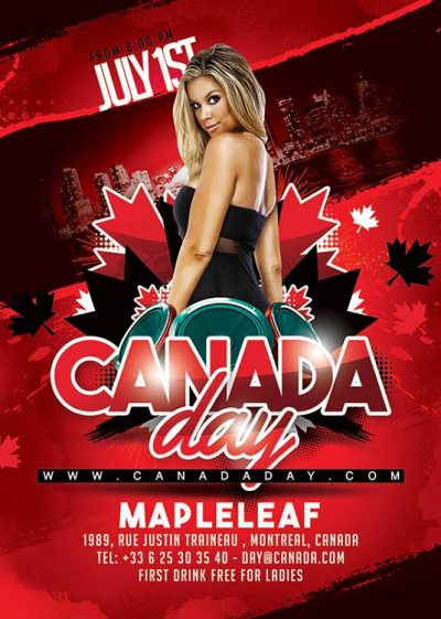 Maple Leaf Canada Day Flyer download
