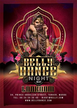 Oriental Belly Dance Night Flyer