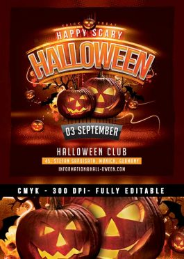 Squared Halloween Party Flyer Template