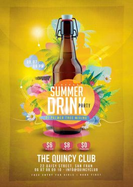 Summer drink party Flyer Template