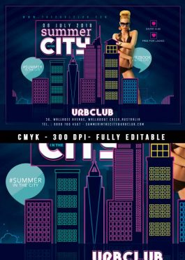 Urban City Summer Flyer Template