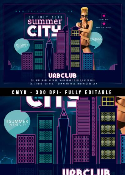 Urban City Summer Flyer Template download