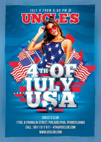 Usa Day 4th Of July Flyer Template download