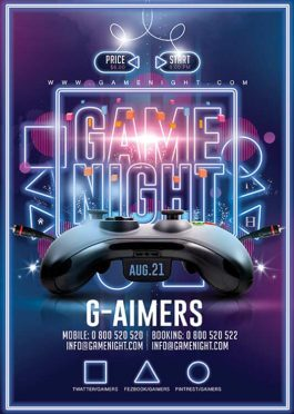 Game Night Gaming Flyer Template