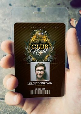 ID Card Barocco Club Badge Template