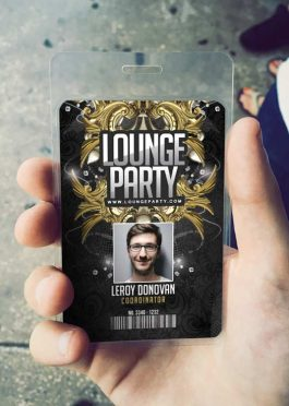 ID Card Lounge Club Badge Template