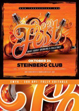 Beer Party Oktober Fest Flyer Template