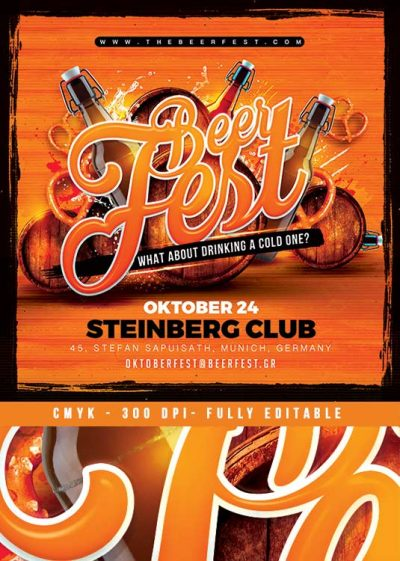 Beer Party Oktober Fest Flyer download