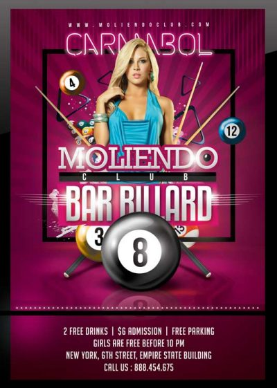 Billiard Bar Pool Club Flyer Template download