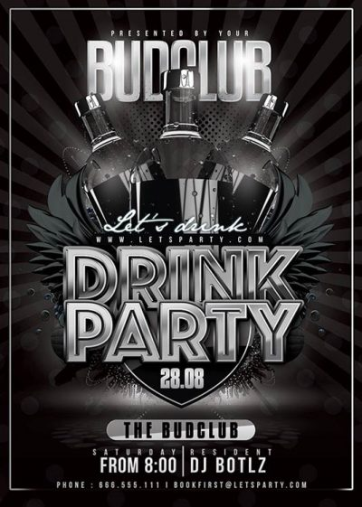 Classy Drink Party Flyer Template download
