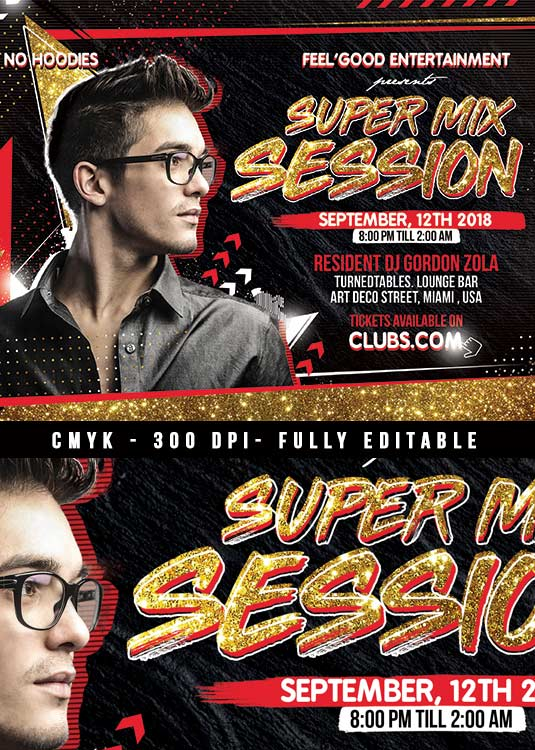 DJ Flyer Mix sessions Template download