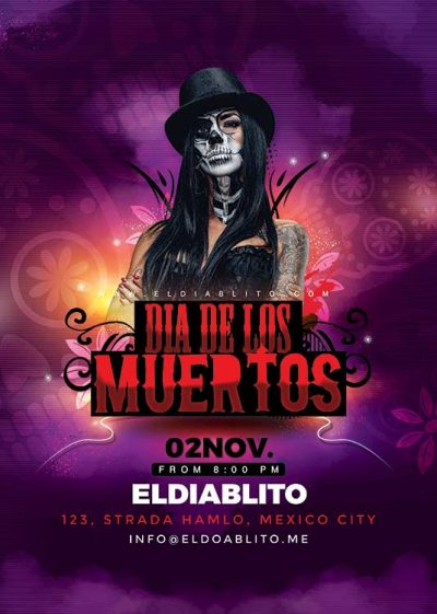 Dia De Los Muertos Flyer Template download
